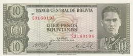 Rox BOLIVIA 154q - 10 Pesos Bolivianos 13.7.1962 UNC - Bolivia