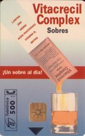 TARJETA TELEFONICA DE ESPAÑA USADA. 03.98 TIRADA 13000 (452). VITACRECIL COMPLEX . - Spain