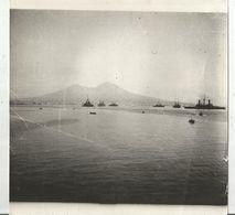 Photographie , 18 X 18 , Bateaux De Guerre , La Flotte Allemande , Italie , Naples , Le Vésuve - Boats