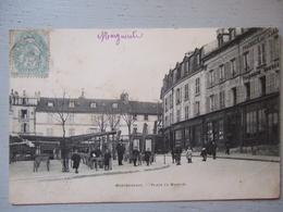 MONTMORENCY / LA PLACE DU MARCHE ANIMEE / 1905 DOS NON DIVISE - Montmorency