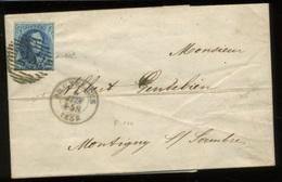20c Médaillon Sur Lettre - 1858-1862 Médaillons (9/12)
