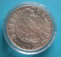 Repubblica - 500 Lire  Mondiali Di Calcio 1990   Argento  FDC - 1946-… : Repubblica