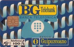 TARJETA TELEFONICA DE ESPAÑA USADA. 11.94 - TIRADA 8100 (454). BG TELEBANK . - Spain