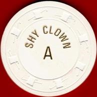 Roulette Casino Chip. Shy Clown, Sparks, NV. K98. - Casino