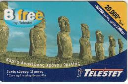 GREECE - Easter Island, Telestet Prepaid Card(plastic) 20000 GRD, Used - Greece