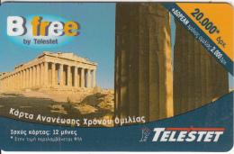 GREECE - Acropolis/Athens, Telestet Prepaid Card 20000 GRD, Used - Greece