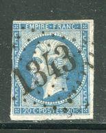 Y&T N°14A GC 1343 - 1853-1860 Napoléon III