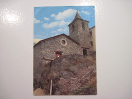 "CPSM  Andorre - VALLS D'ANDORRA - ARINSAL -"" Eglise Roman ""   T.B.E. Plis Angles Gauche - Andorre"