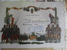 Diplome De MEMBRE D'HONNEUR Des ANCIENS DE LA LEGION ETRANGERE - Camerone 1992 - 1939-45