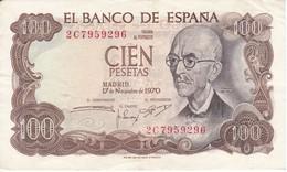 BILLETE DE 100 PTAS DEL AÑO 1970 SERIE 2C CALIDAD  MBC (VF) (BANK NOTE) - [ 3] 1936-1975 : Regency Of Franco