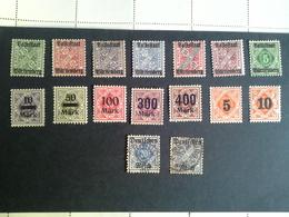 Lot Wurttemberg Dienstmarken - Postzegels