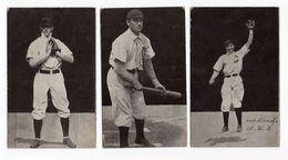 Baseball Cards +-1907 Schulte,Sheckard And Hoffman - Postkaarten