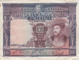 BILLETE DE ESPAÑA DE 1000 PTAS DEL AÑO 1925 DE CARLOS I EN CALIDAD RC  (BANKNOTE) - 1000 Pesetas