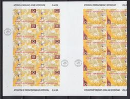 Europa Cept 2006 Bosnia/Herzegovina Sarajevo 1v Sheetlet + Part Of Shtlt  IMPERFORATED ** Mnh (F6910) - Europa-CEPT
