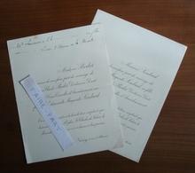 FAIRE-PART MARIAGE 1914 BERLET # LOMBARD Nancy Lorraine Sedan Ardennes - Mariage
