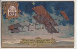 AVIATEUR ROGER SOMMER     CARTE EN RELIEF     COLLECTION LEFERVRE UTILE - Aviateurs