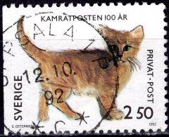 SWEDEN 1992 Rebate Stamps. Centenary Of Kamratposten (children's Magazine) - 2k.50 - Kitten (Sabina Ostermark) FU - Sweden