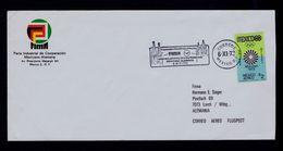 FIMA Phil.exh. Lufthansa 1973 Industrial Cooperation MEXICO - GERMANY Aviation Slogan Pmk Sp5079 - Verkehr & Transport