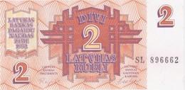 Rox LATVIA - 2 Rubles 1992  UNC - Lettonie