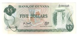 Guyana 5 Dollars 1992  UNC .C. - Guyana