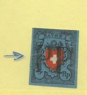Yv. 14  Ø  Déchirure Latérale - 1843-1852 Timbres Cantonaux Et  Fédéraux