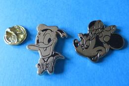 2 Pin's, Disney, Donald Duck, Minnie Maus, Arthus Bertrand - Arthus Bertrand