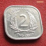 East Caribbean States 2 Cents 1986 KM# 11 Caribbean Caraibas Caraibes Orientales - East Caribbean States
