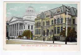 SAN JOSE, California, USA, Court House & Hall Of Records, 1907 UB Behrendt Postcard - San Jose