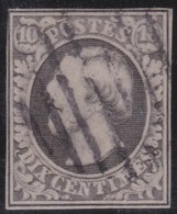 Luxembourg    .     Yvert  .      1      .       O      .         Gebruikt  .     /   .   Cancelled - 1852 Wilhelm III.