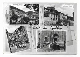 SALUTI DA GUBBIO - VEDUTE  VIAGGIATA FG - Perugia