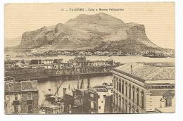 PALERMO - CALA E MONTE PELLEGRINO AFFRANC. CON F.BOLLO FILATELICO - LA CARTOLINA E DEGLI ANNI 30/40 - Palermo
