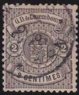 Luxembourg       .     Yvert  .        27     .       O      .         Gebruikt  .     /   .   Cancelled - 1859-1880 Wapenschild