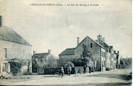 N°4291 A -cpa Lépinay Le Comtge -le Bas Du Bourg Et La Poste- - Frankreich