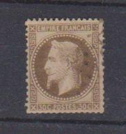 N 30 / 30 Centimes Brun / Oblitéré - 1863-1870 Napoléon III. Laure