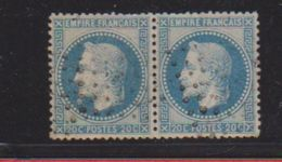 N 29A / Paire De 20 Centimes Bleu / Type I / Oblitéré - 1863-1870 Napoléon III. Laure
