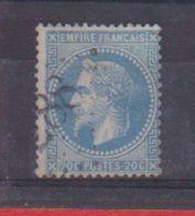 N 29A / 20 Centimes Bleu /Oblitéré - 1863-1870 Napoléon III. Laure