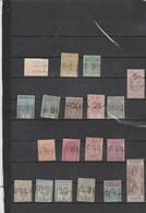 Ceylan Ceylon - Lot Collection 17 Timbres Télégraphe - Ceylan (...-1947)