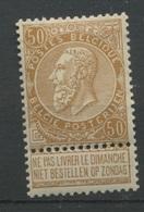 50c Bistre  N° 62  ** Sans Charnière  Très Beau Et Frais  C. 270,-E - 1893-1907 Wappen