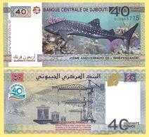Djibouti 40 Francs P-46a 2017 Commemorative UNC - Djibouti