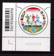 Monaco-2014,(Mi.), Football, Soccer, Fussball,calcio,MNH - 2014 – Brésil