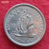 British Caribbean Territories 10 Cents 1956 KM# 5 Caribbean Caraibas Caraibes Orientales - East Caribbean States
