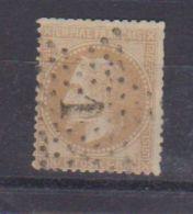 N  28 B  / 10 Centimes Bistre / Oblitéré - 1863-1870 Napoléon III Con Laureles