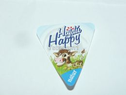Cheese Queso Kase Label Etikette Etiqueta Hungary Hajdu Happy Natur Nature Cow Kuh - Käse