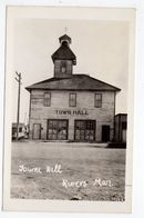 RIVERS, Manitoba, Canada, Wooden Town Hall, Old RPPC - Autres