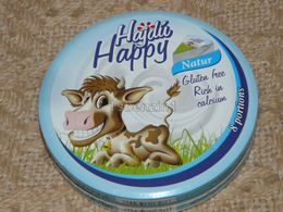 Cheese Queso Kase Label Etikette Etiqueta Hungary Hajdu Happy Natur Nature Cow Kuh BOX - Käse