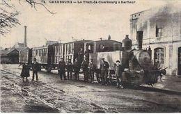50 - CHERBOURG - Train De Cherbourg à Barfleur - Gare. Etat: Voir Scan (Format 8,5cm X 14cm) - Cherbourg