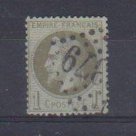 N  25  / 1 Centime  Bronze / Oblitéré - 1863-1870 Napoléon III. Laure