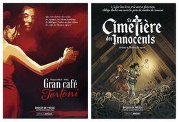Dossier De Presse - Gran Café Tortoni + Le Cimetière Des Innocents - Philippe Charlot, Winoc, Xavier Fourquemin - Bamboo - Livres, BD, Revues