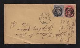Envelope Mailed In Pennsylvania 1882 - Fancy Killer [#2048] - Postal History