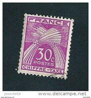 # 68  Chiffre Taxe 30c  1943/1946 Timbre France Oblitéré - 1859-1955 Used